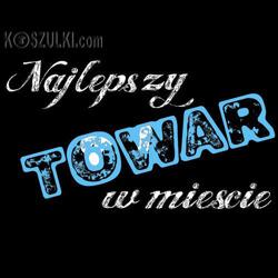 t-shirt 2K Najlepszy Towar w mieście Czarny