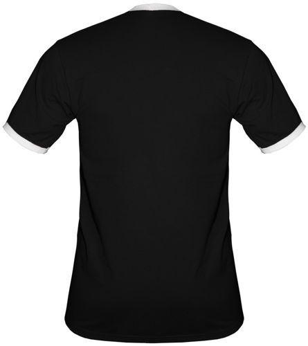 t-shirt 2K066 napis Polska Czarny