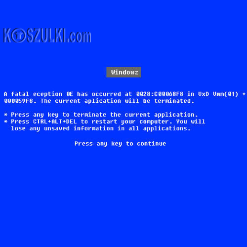 t-shirt Blue Screen of Death-Win95-98
