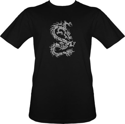 t-shirt DragonTATOO Szary