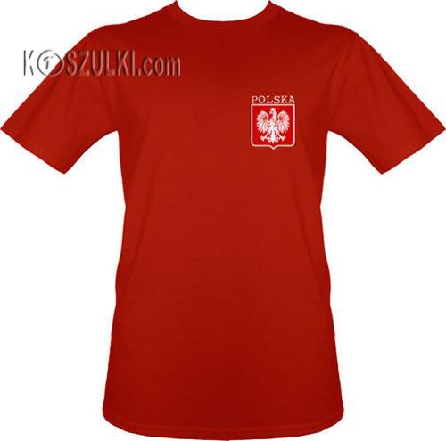 t-shirt Polska+ Nazwisko i numer Czerwony