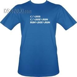 t-shirt Run DOS Run