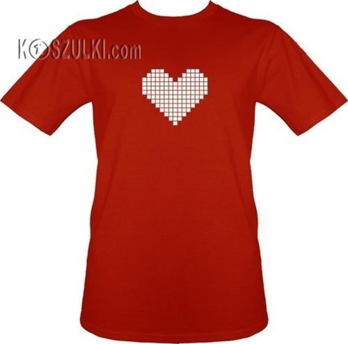 t-shirt SERCE PIXEL