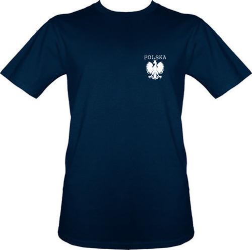 t-shirt T011 Polska mały Orzeł Granatowy