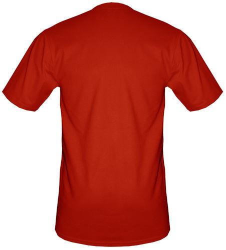 t-shirt T055 Polska napis Flaga Czerwony