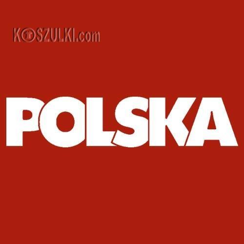 t-shirt T062 napis Polska Czerwony