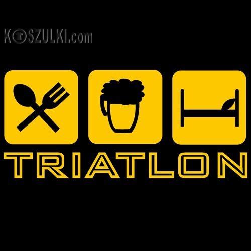 t-shirt Triatlon Czarny
