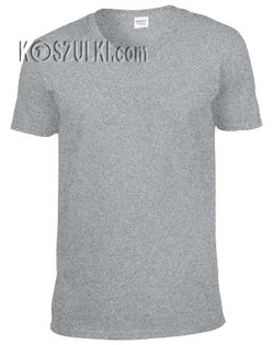 t-shirt bez nadruku w serek Jasny szary