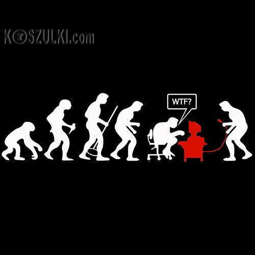 t-shirt ewolucja WTF